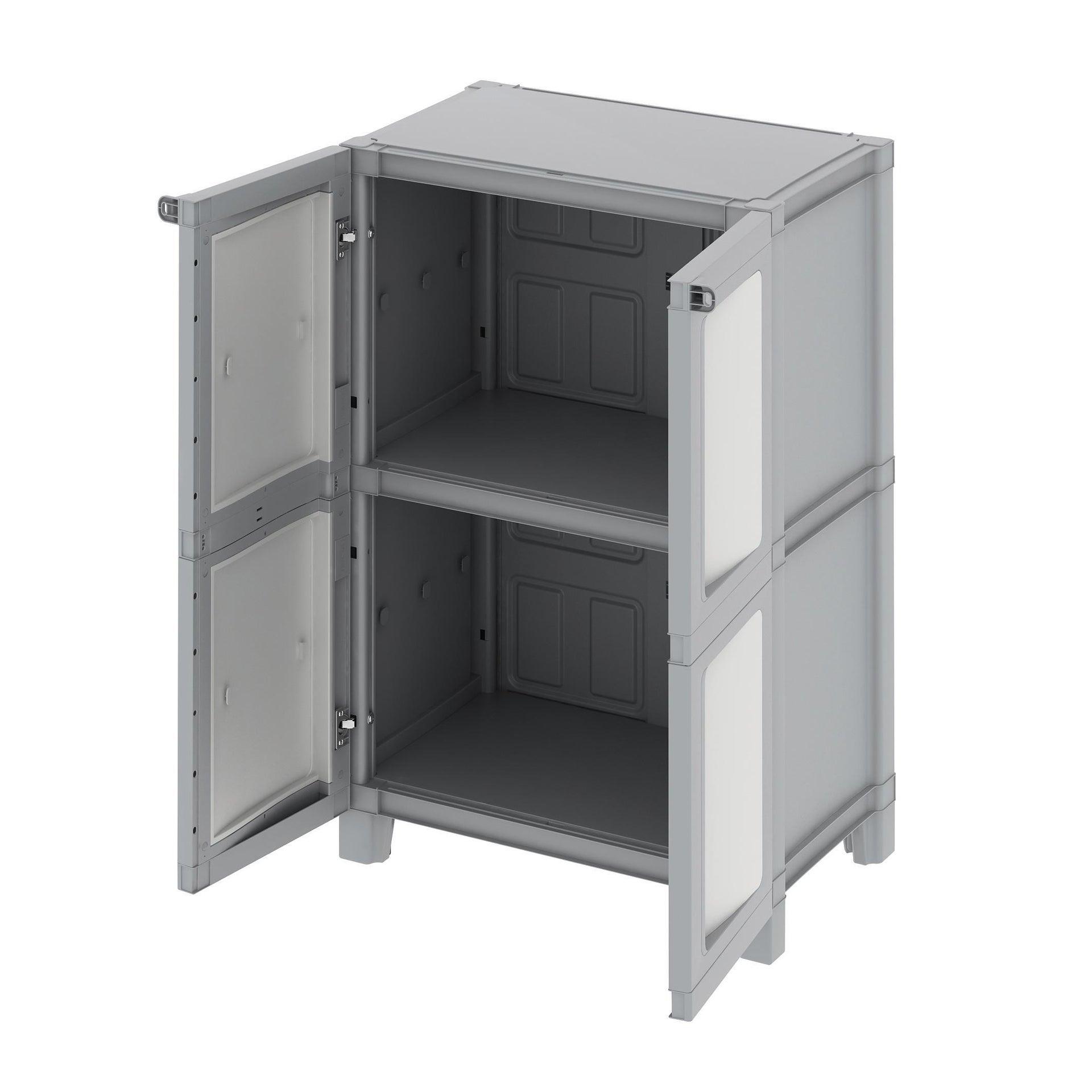 Armadio Modulize L 65 x P 40 x H 95 cm grigio - 6