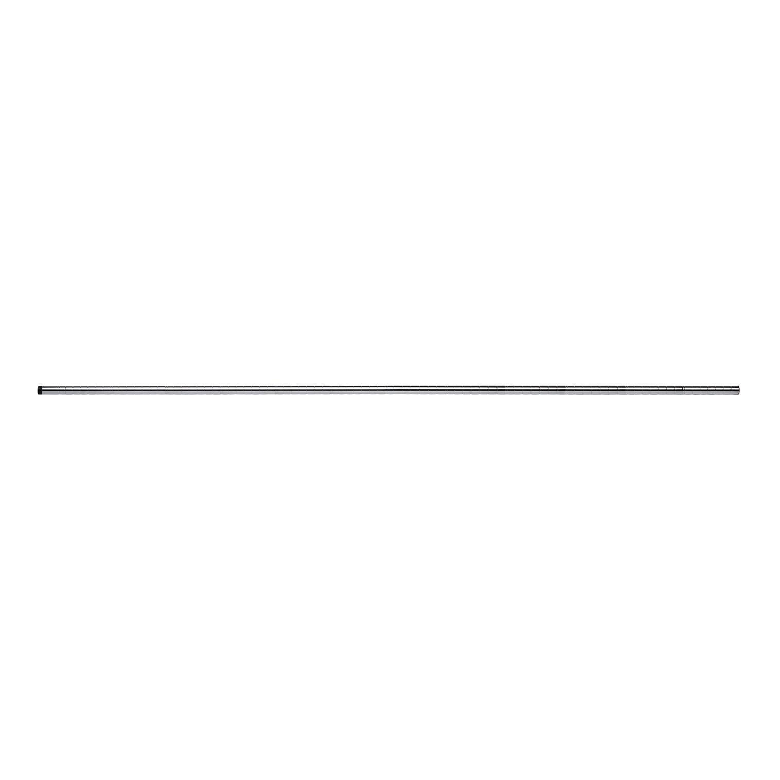 Ripiano in acciaio Spaceo Chrome Style+ L 220 x H 2.5 x Sp 25 cm grigio / argento cromato