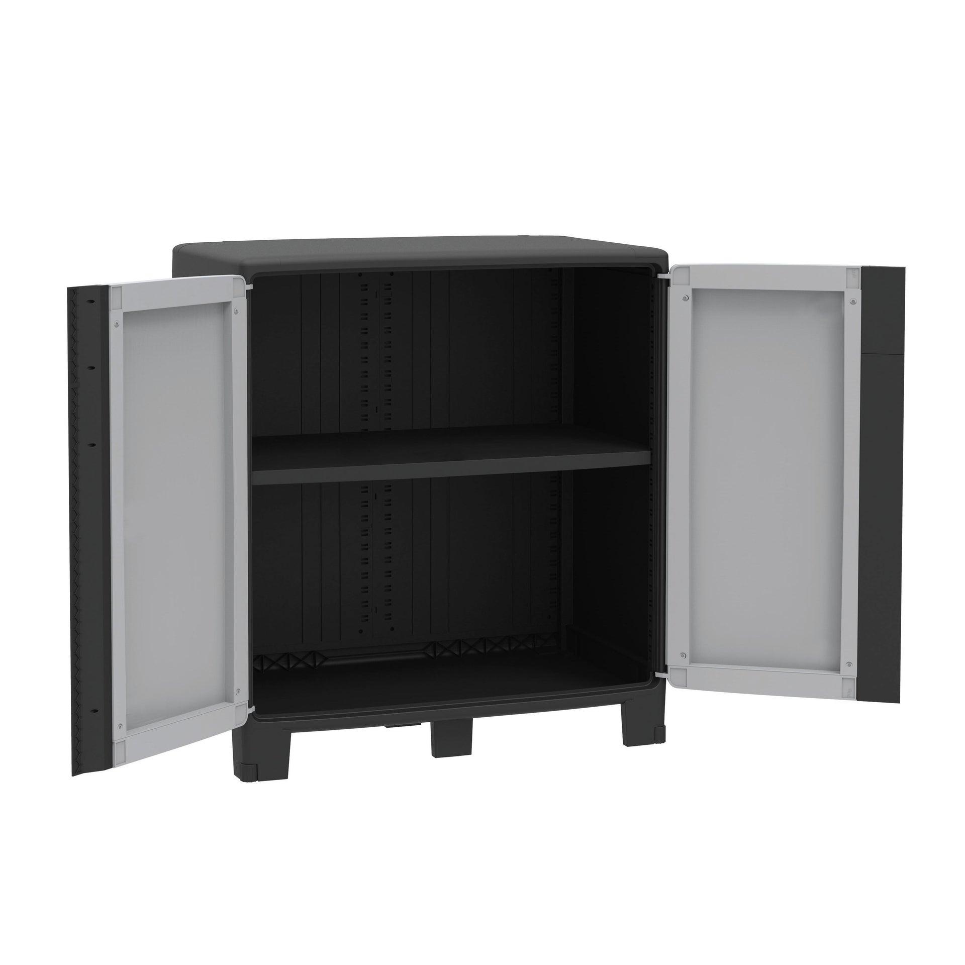 Armadio xl Spaceo cool L 85 x P 52 x H 93 cm grigio e nero - 3
