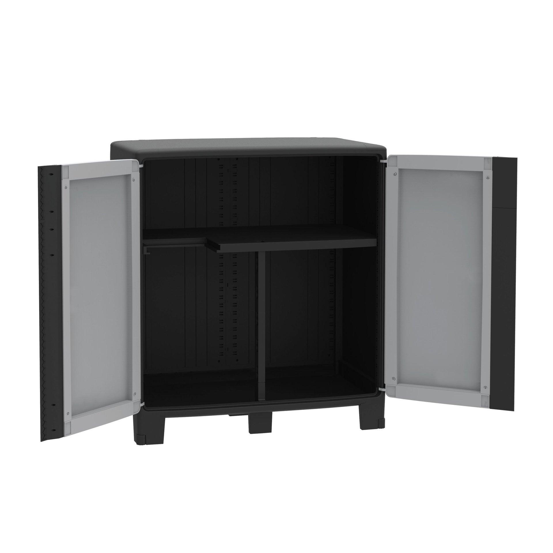 Armadio xl Spaceo cool L 85 x P 52 x H 93 cm grigio e nero - 5