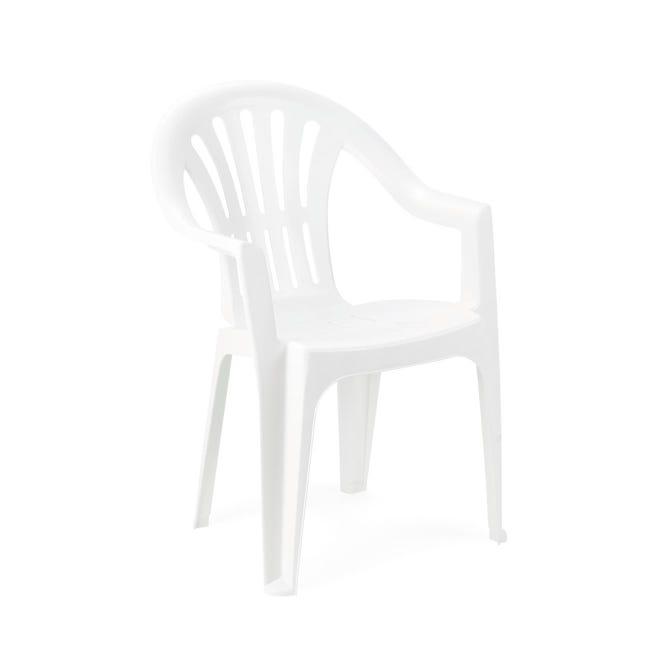 Sedia con braccioli senza cuscino Kona colore bianco - 1