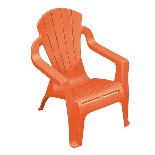 Sedia da giardino senza cuscino Mini selva per bambini colore arancione - 1