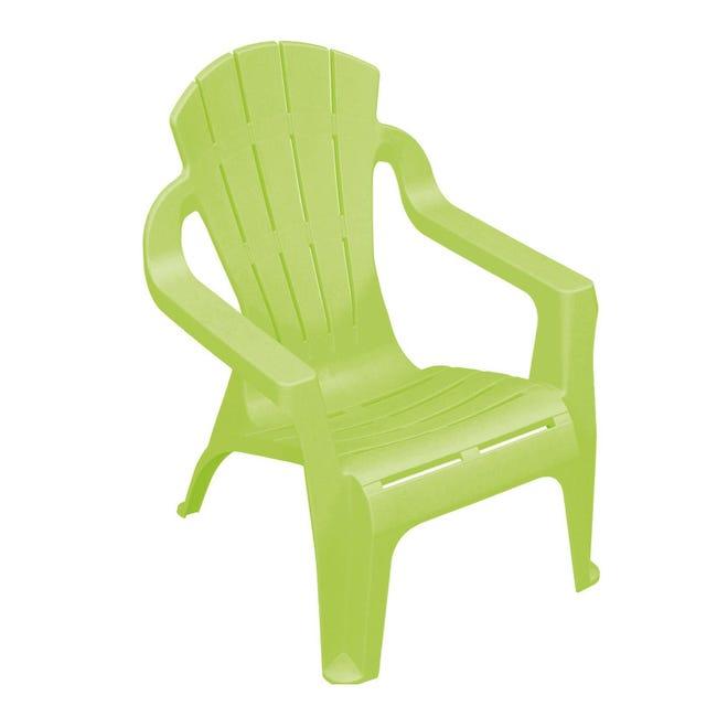 Sedia da giardino senza cuscino Mini selva per bambini colore verde lime - 1