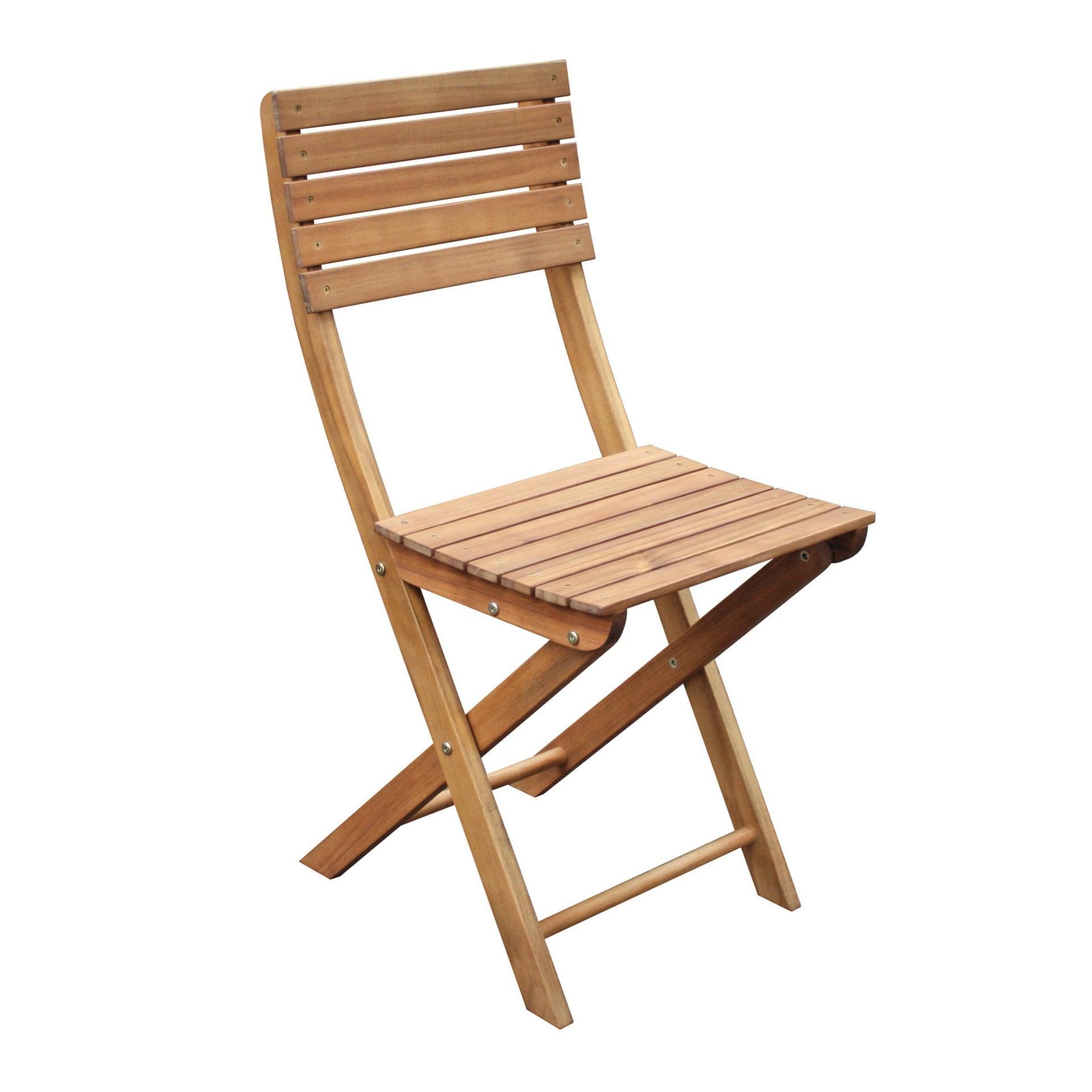Sedia da giardino senza cuscino pieghevole in legno Porto NATERIAL colore acacia