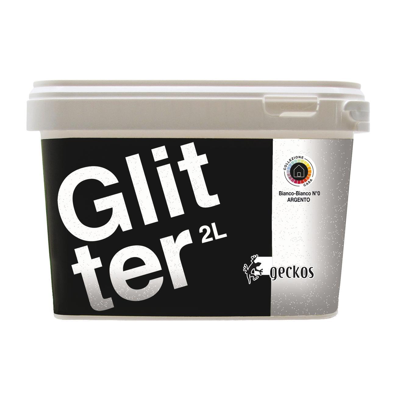 Pittura decorativa GECKOS Glitter 2 l bianco effetto paillette - 3