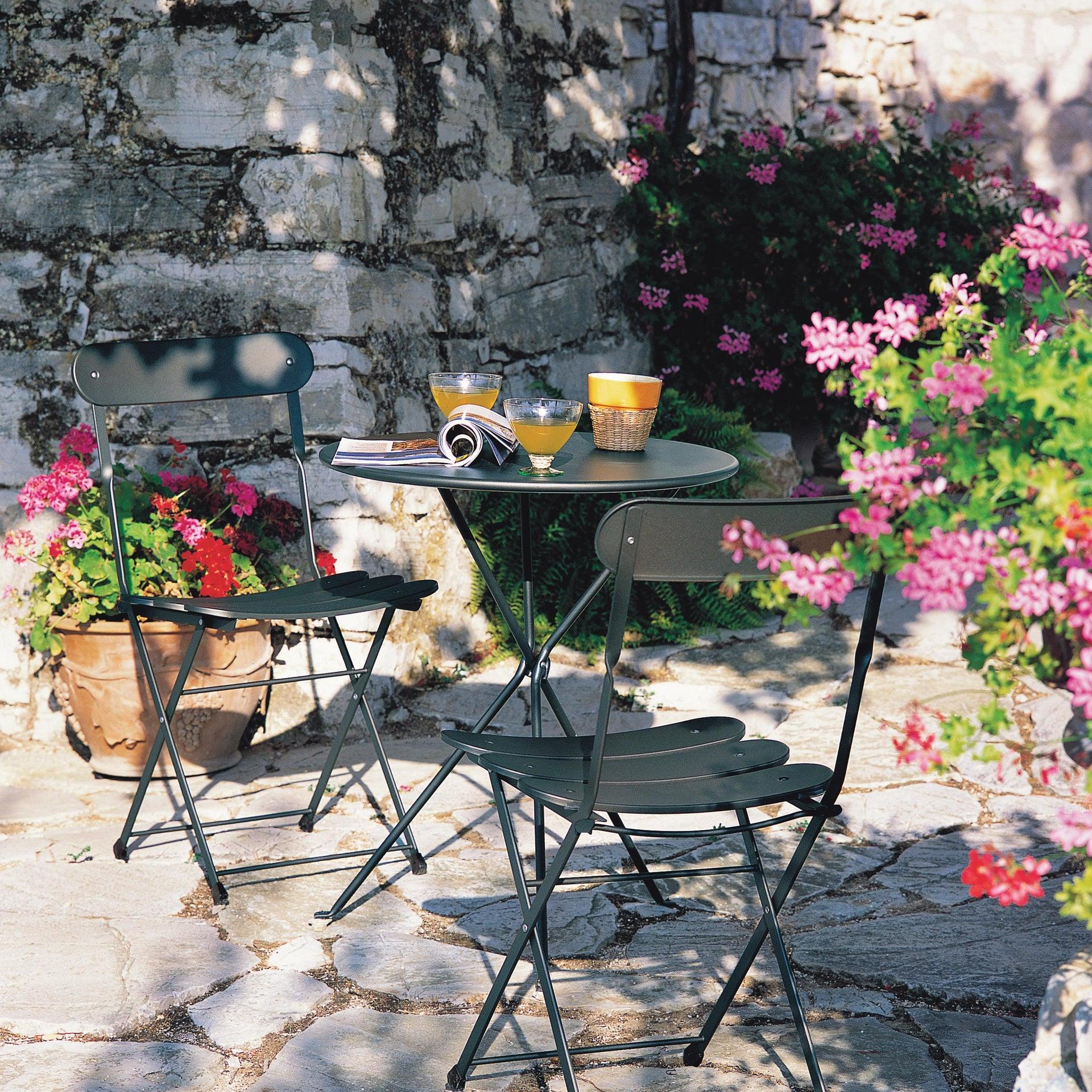Sedia da giardino senza cuscino pieghevole Cassis colore antracite - 2