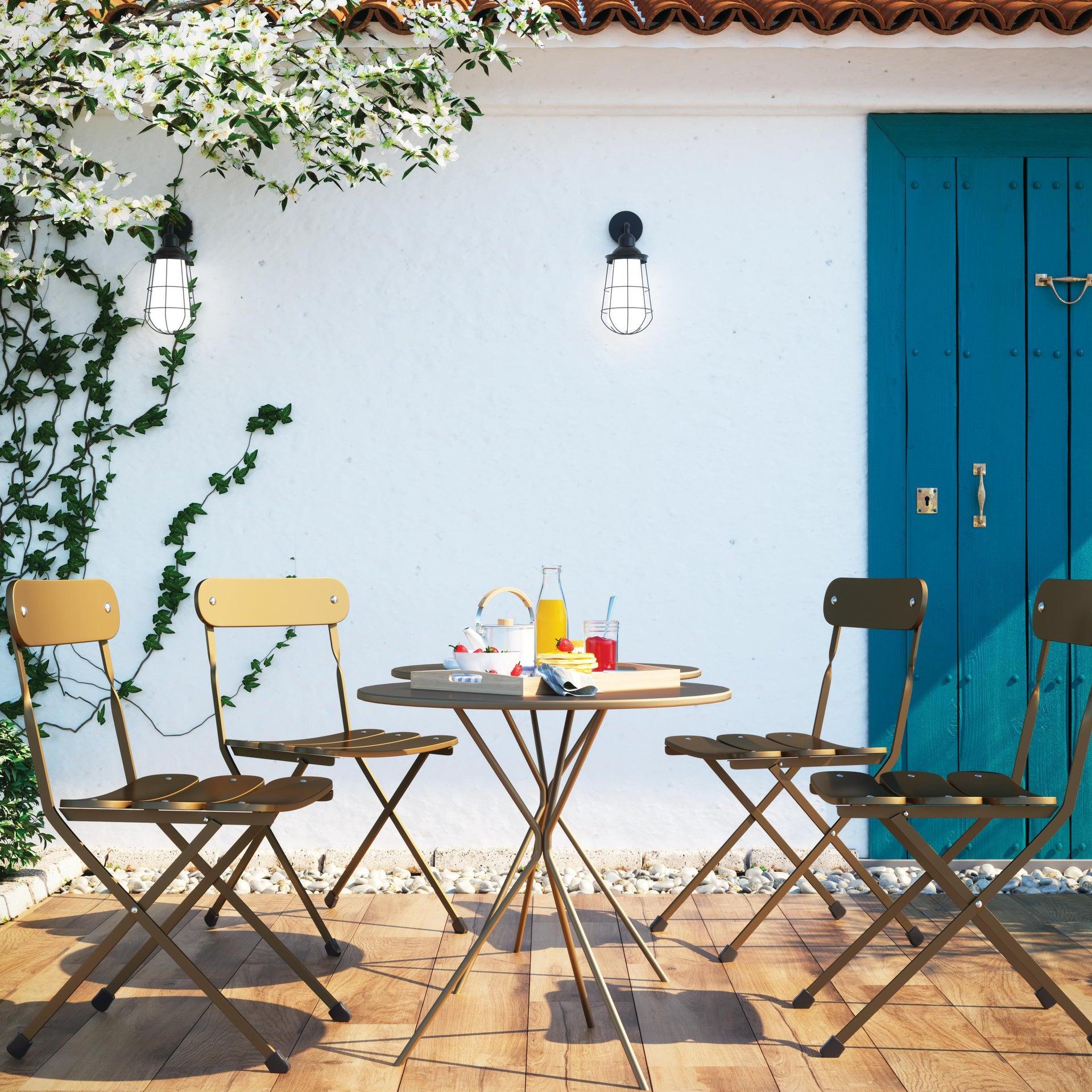 Sedia da giardino senza cuscino pieghevole Cassis colore antracite - 6