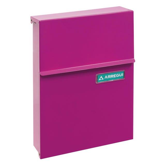 Cassetta postale ARREGUI formato Lettera, rosa , L 23 x P 0.65 x H 30.5 cm - 1