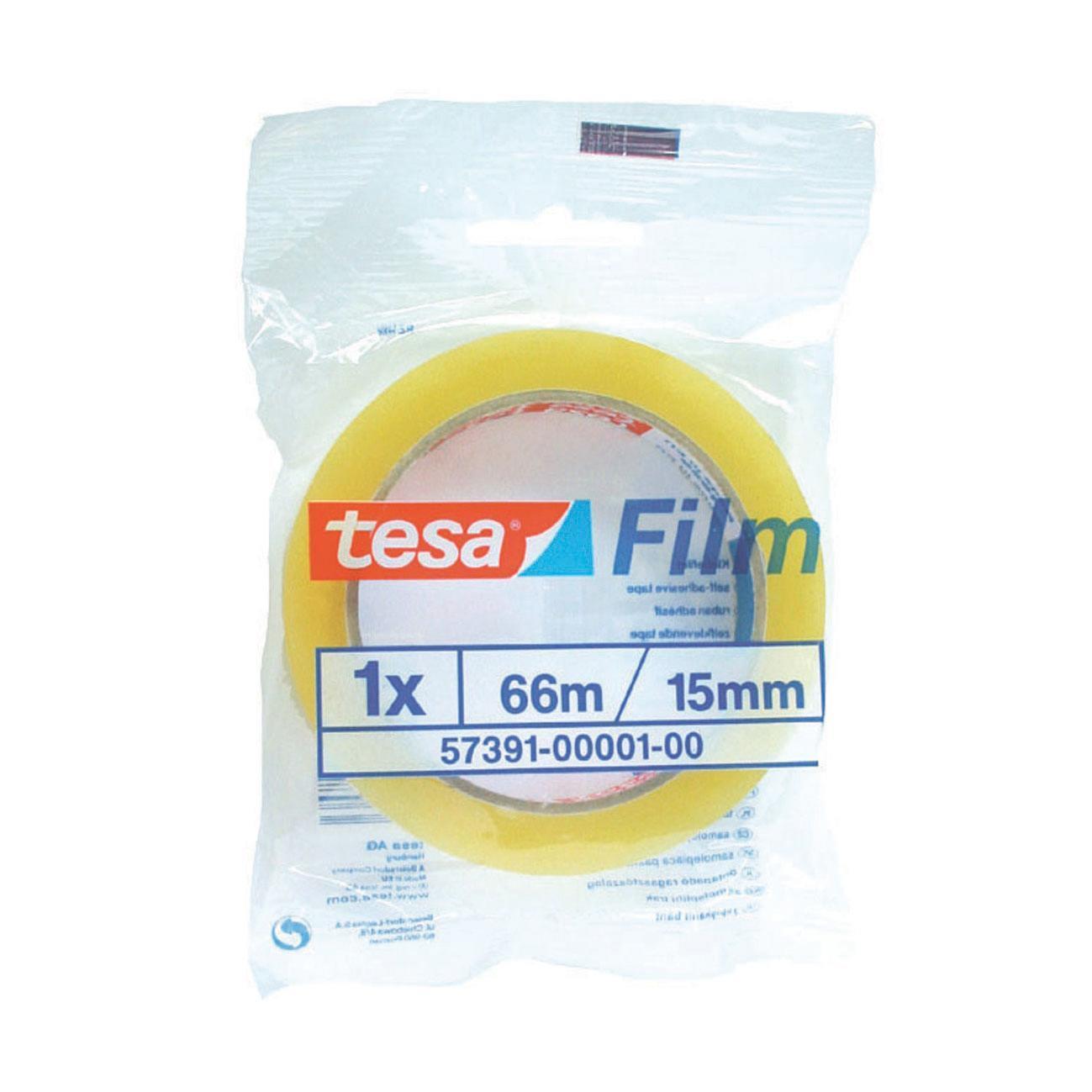 Nastro adesivo TESA tesafilm 15 mm x 66 m trasparente - 3