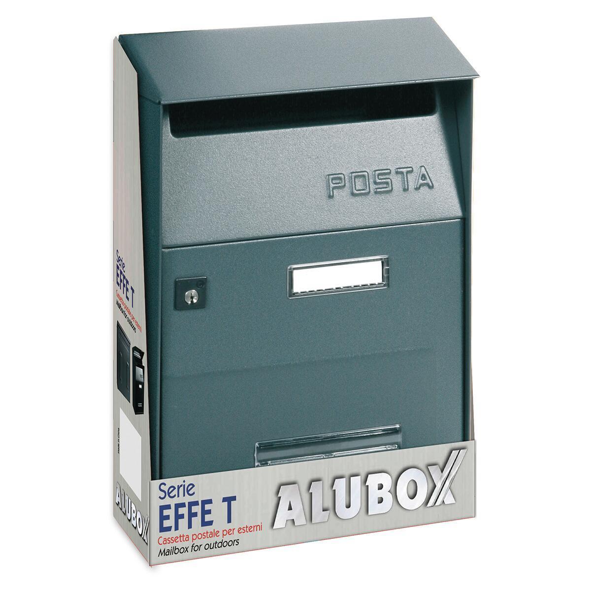 Cassetta postale ALUBOX formato Lettera, grigio / argento , L 22 x P 11 x H 32.5 cm - 2