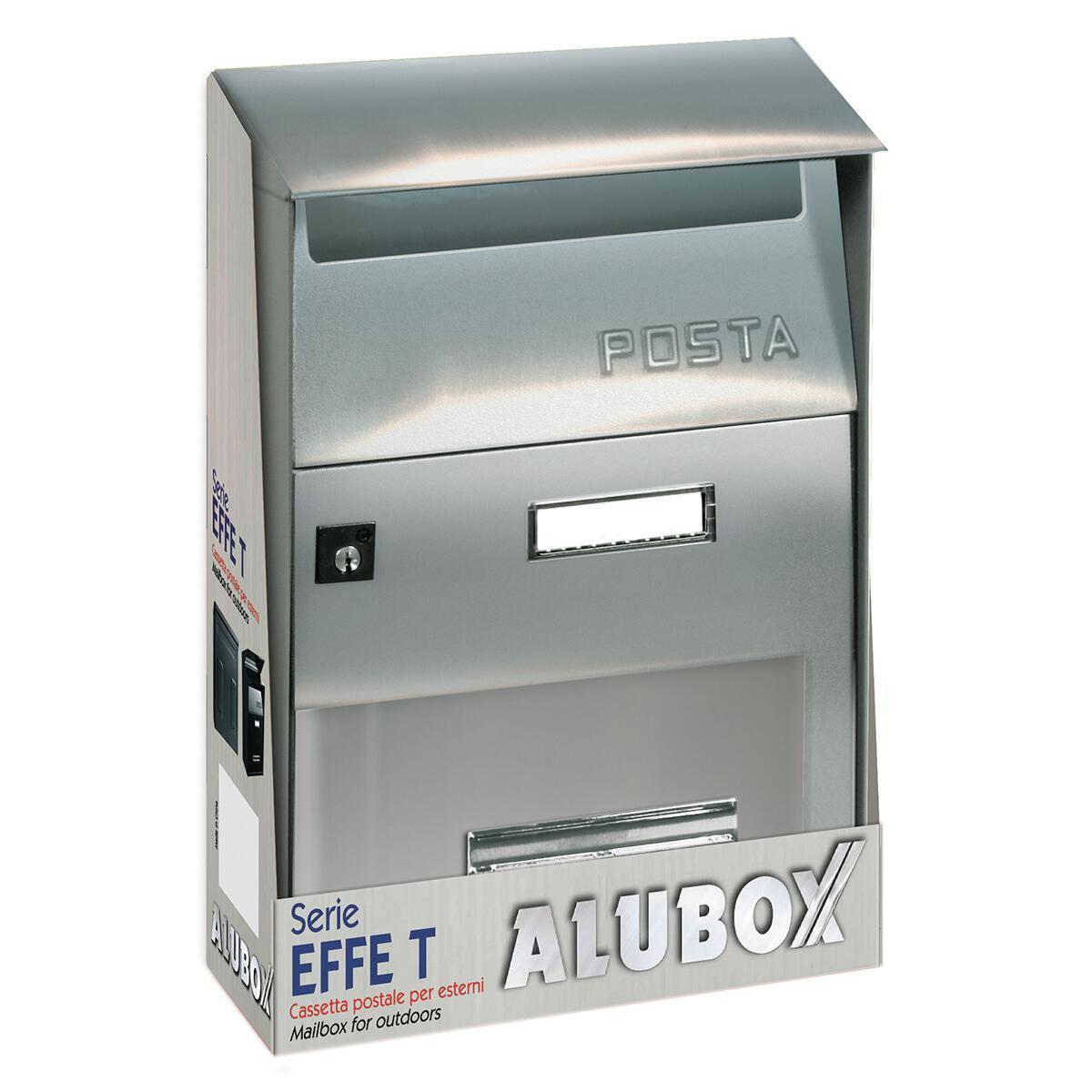 Cassetta postale ALUBOX formato Lettera, grigio / argento , L 22 x P 11 x H 32.5 cm - 4