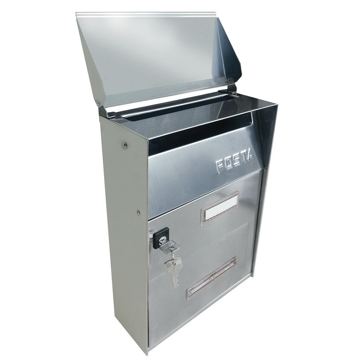 Cassetta postale ALUBOX formato Lettera, grigio / argento , L 22 x P 11 x H 32.5 cm - 6