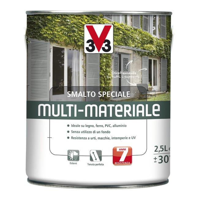 Smalto V33 base solvente bianco ral 9016 2.5 L - 1