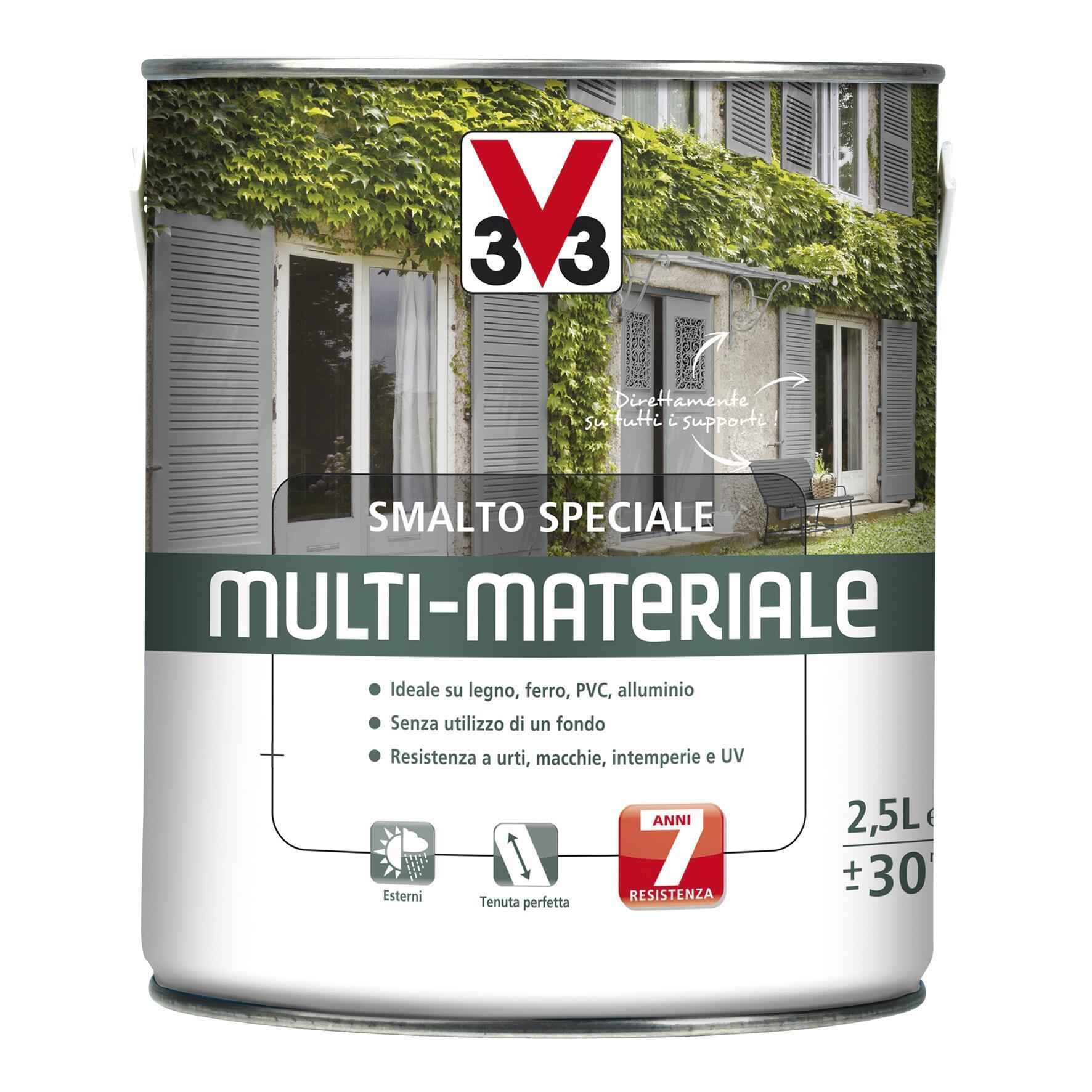 Smalto V33 base solvente bianco ral 9016 0.5 L - 2