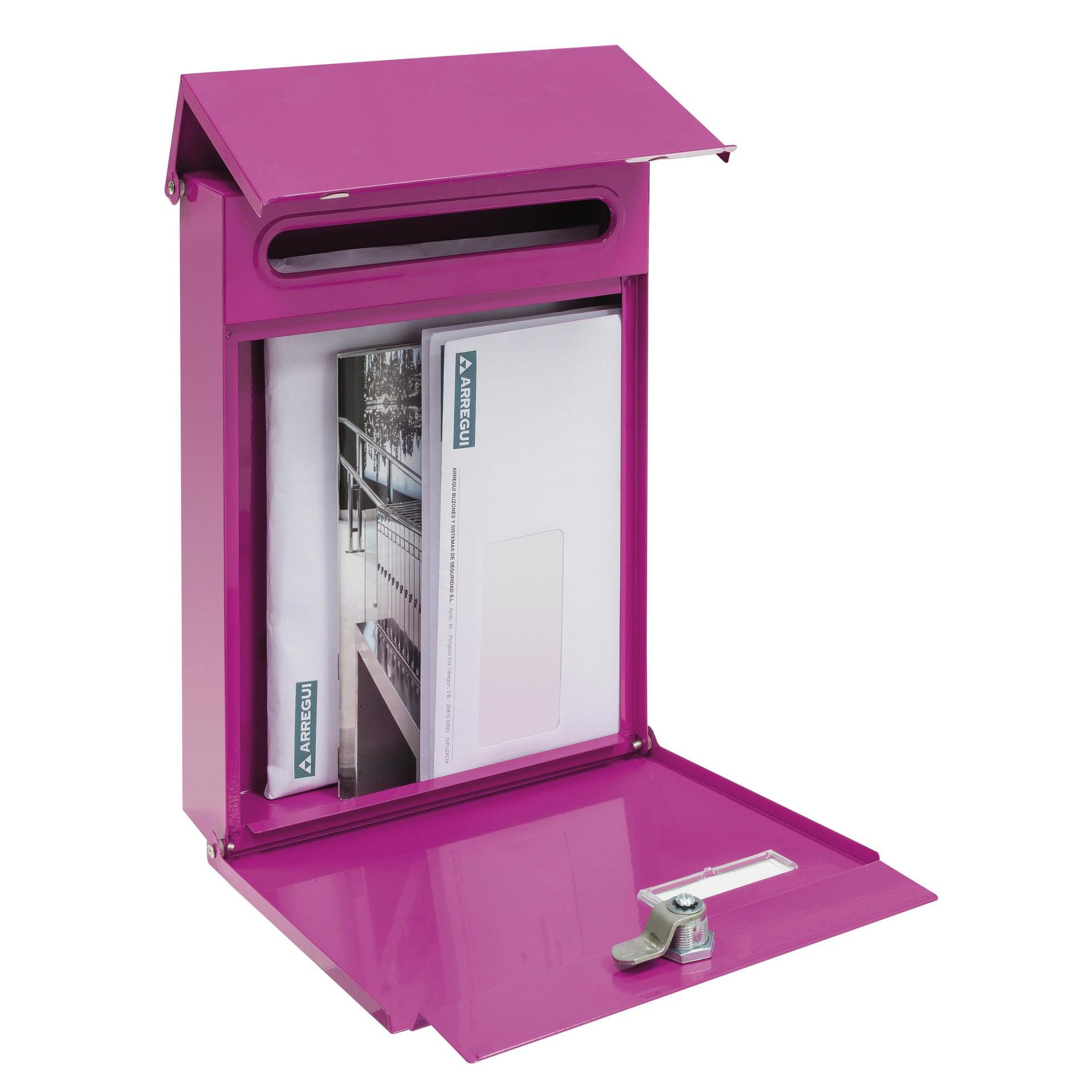 Cassetta postale ARREGUI formato Lettera, rosa , L 23 x P 0.65 x H 30.5 cm - 4