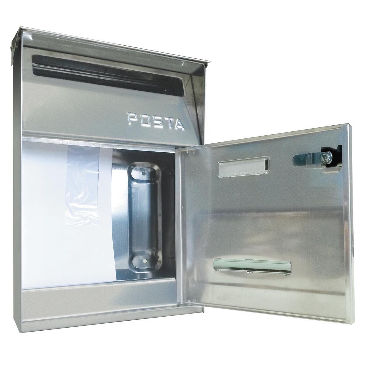 Cassetta postale ALUBOX formato Lettera, grigio / argento , L 22 x P 11 x H 32.5 cm - 5