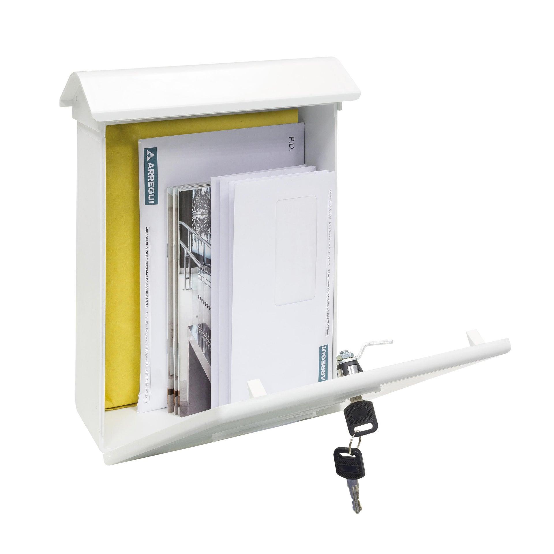 Cassetta postale ARREGUI formato Rivista, bianco , L 27 x P 11 x H 34.6 cm - 3