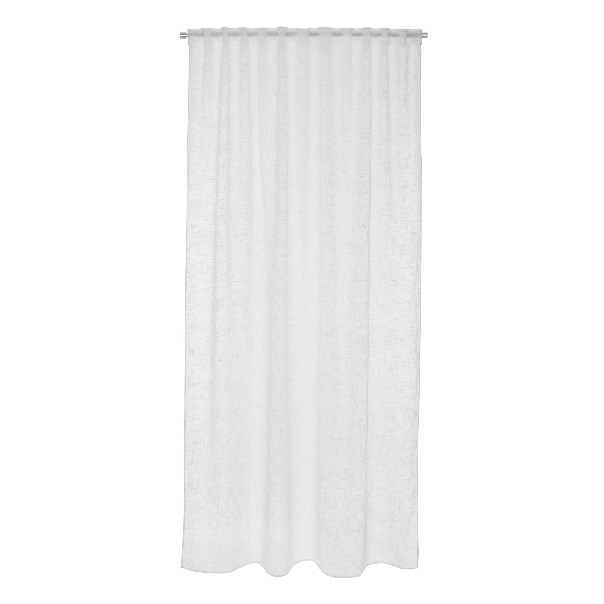 Tenda INSPIRE Amina bianco fettuccia con passanti nascosti 200 x 280 cm - 5