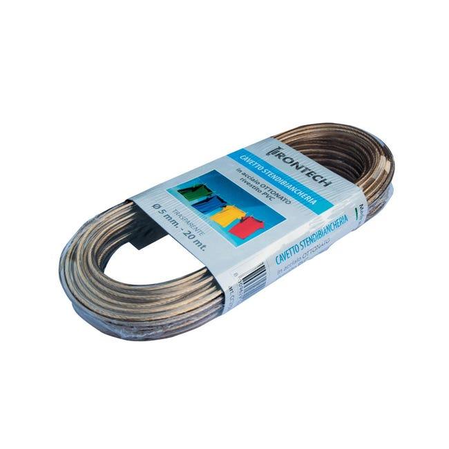 Corda stendibiancheria STANDERS in acciaio ottonato Ø 5 mm x 20 m - 1
