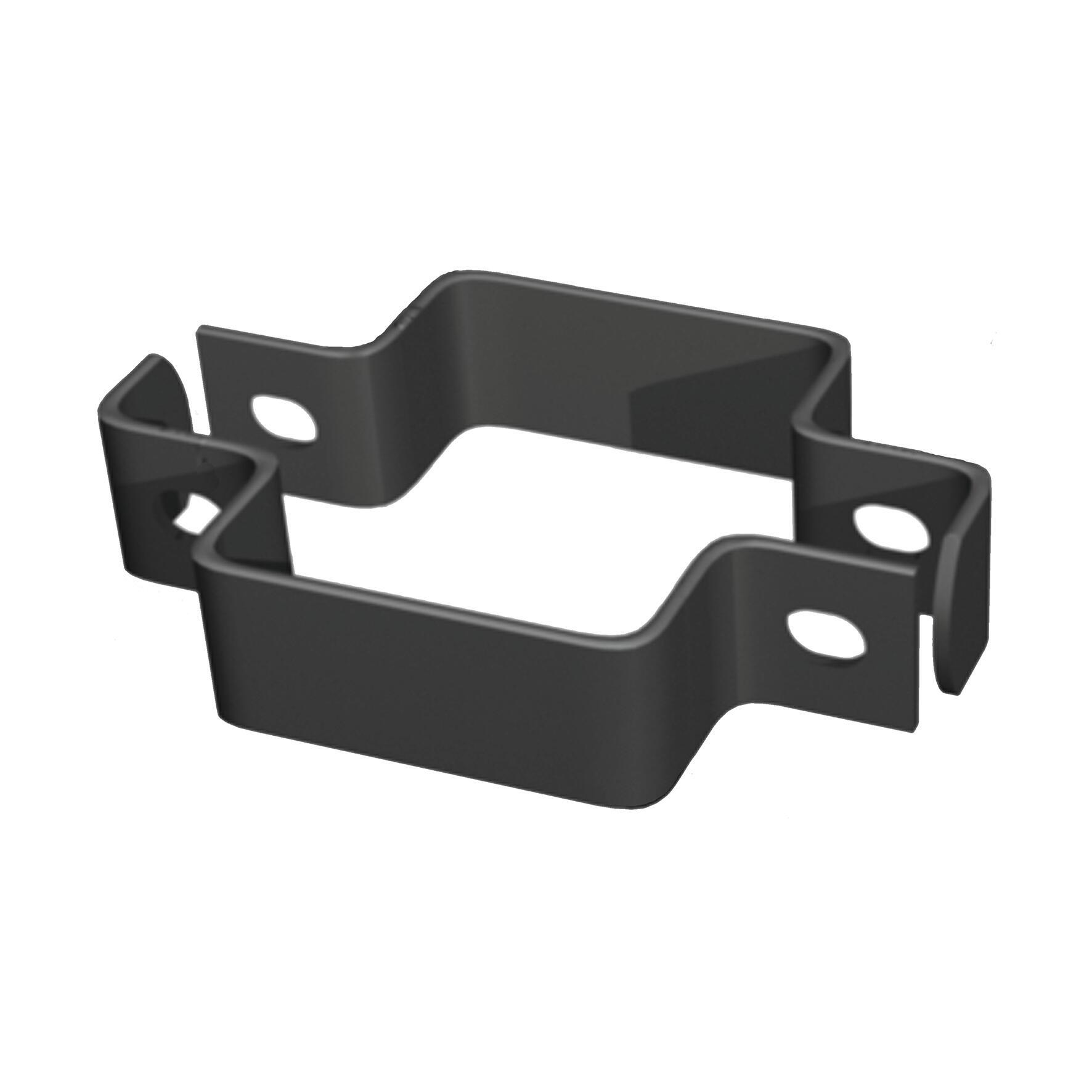 Collare di fissaggio in acciaio galvanizzato plastificato Doppio quadrato H 3.5 cm L 11 x 11 cm