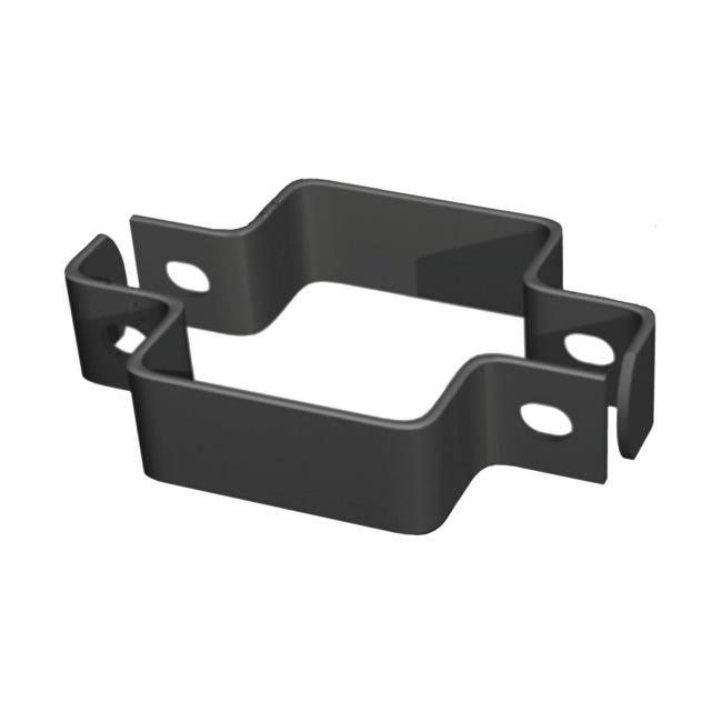 Collare di fissaggio in acciaio galvanizzato plastificato Doppio quadrato H 3.5 cm L 11 x 11 cm - 1