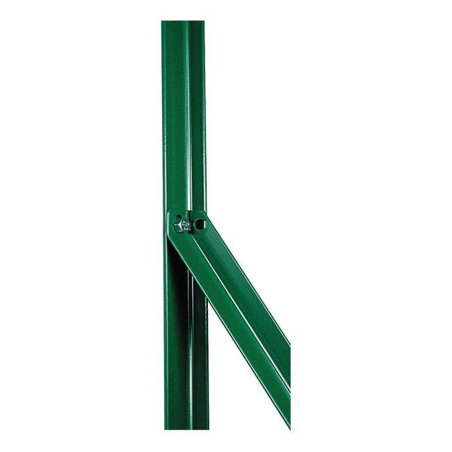 Palo in acciaio plastificato a l H 200 cm L 2,5 x 2.5 cm - 1
