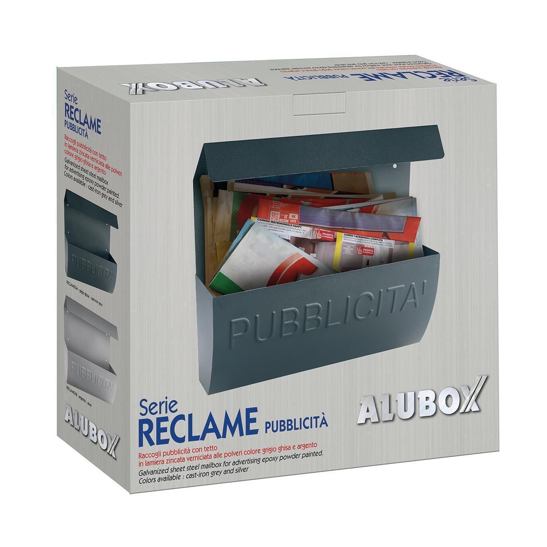 Cassetta porta pubblicità ALUBOX Reclame L 310 x P 100 x H 310 mm colore arancio / ramato - 2