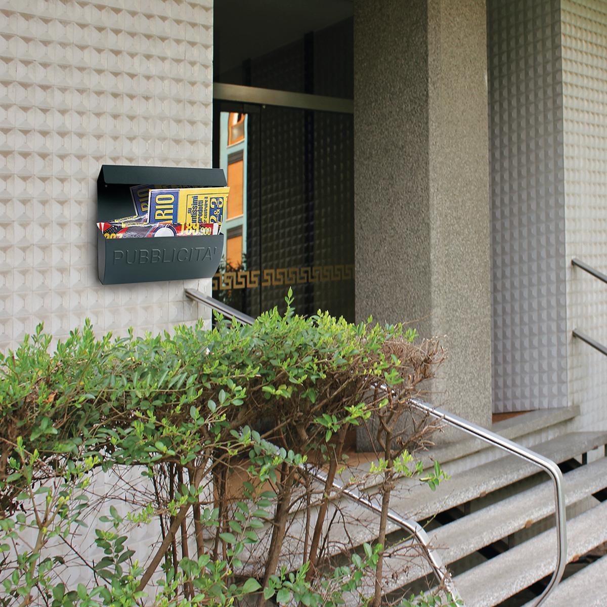 Cassetta porta pubblicità ALUBOX Reclame L 310 x P 100 x H 310 mm colore arancio / ramato - 4