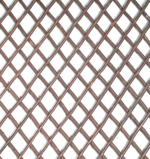 Traliccio estensibile Willow trellis in vimini L 200 x H 100 cm , spessore 7 mm - 1