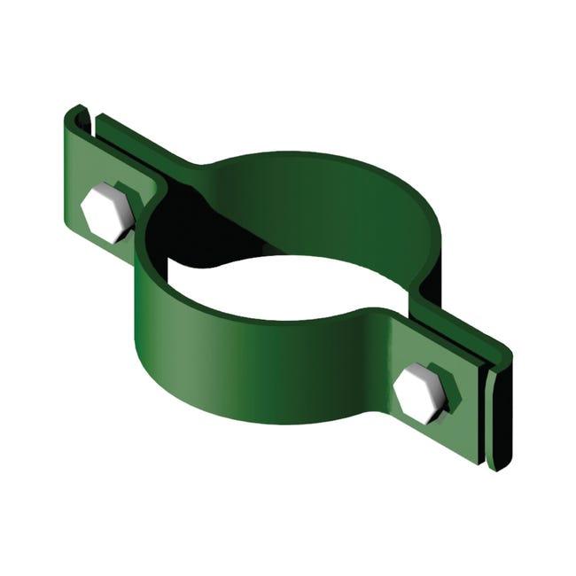 Collare di fissaggio in acciaio galvanizzato plastificato Doppio tondo Ø 48 mm H 2.5 cm L 12 x - 1