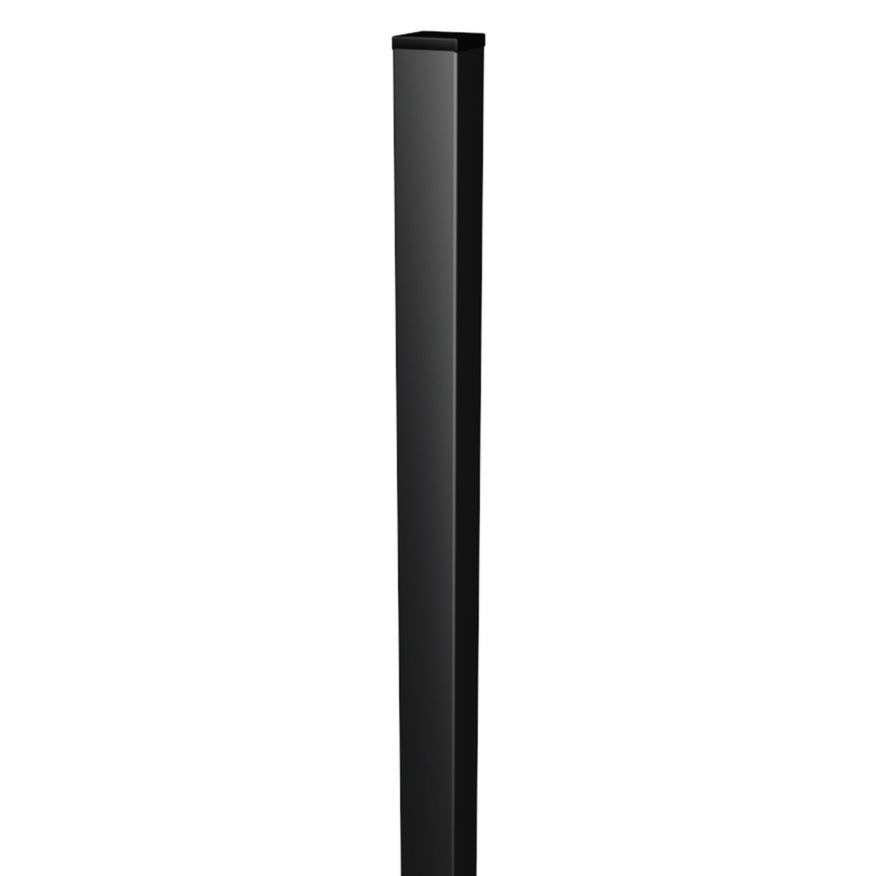 Palo in acciaio galvanizzato plastificato Medium quadrato H 150 cm L 5 x 5 cm