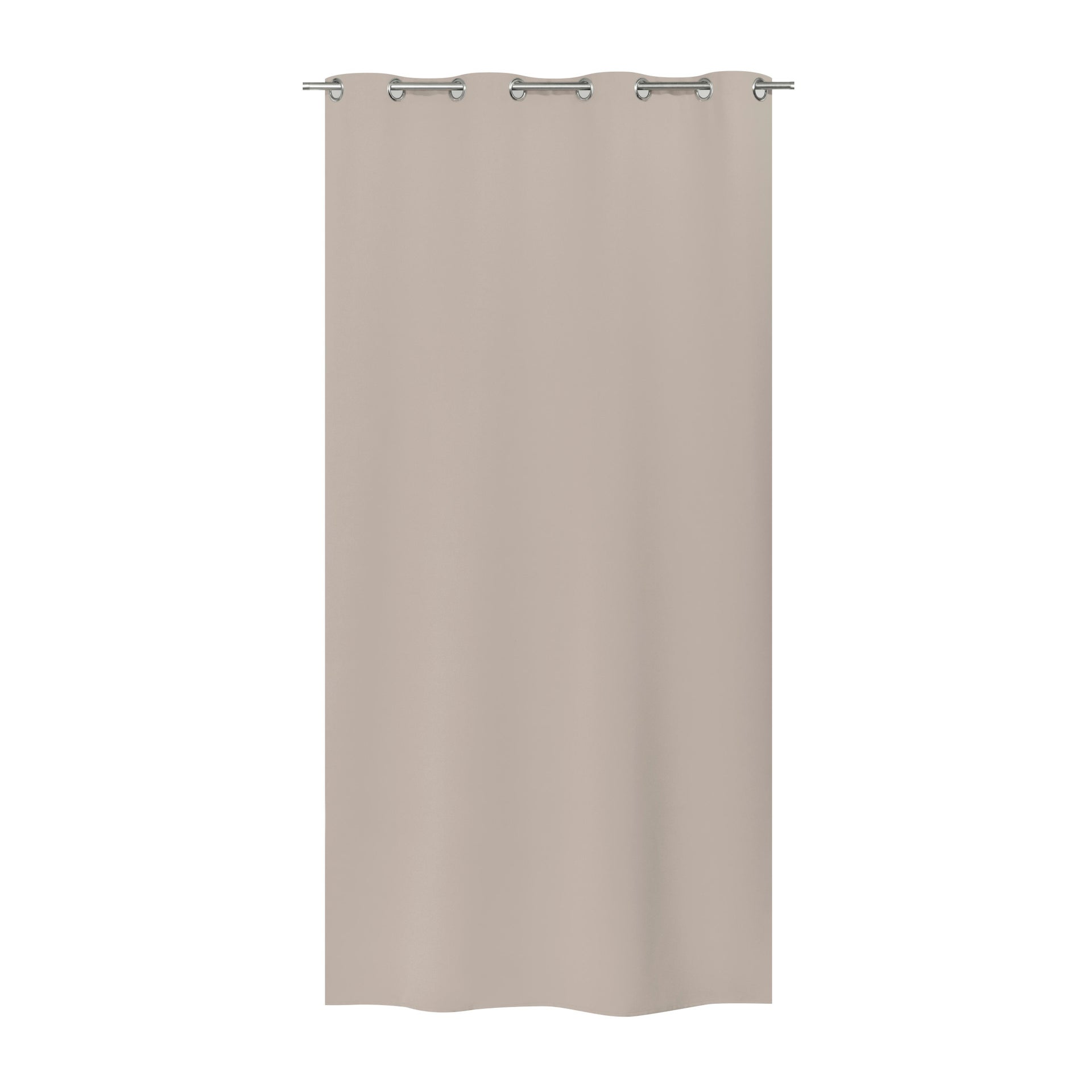 Tenda Oscurante termica antirumore tortora occhielli 135 x 280 cm - 3