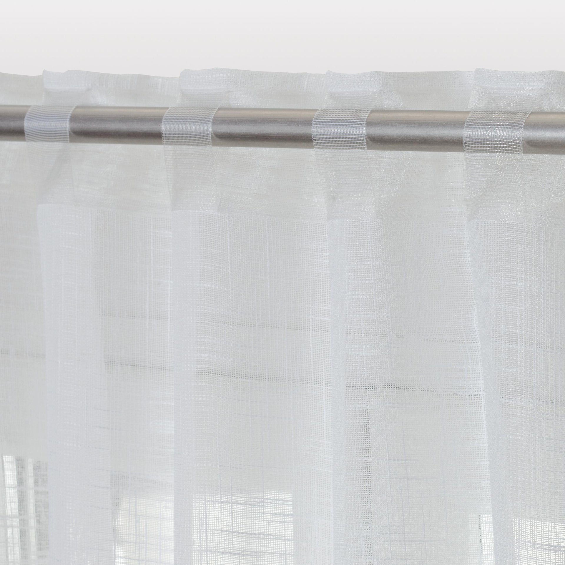 Tenda INSPIRE Amina bianco fettuccia con passanti nascosti 200 x 280 cm - 4