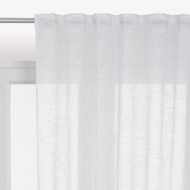 Tenda INSPIRE Amina bianco fettuccia con passanti nascosti 200 x 280 cm - 1