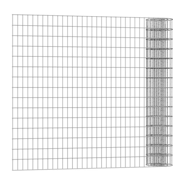 Rotolo di rete metallica elettrosaldato Executive ECO grigio / argento L 25 x H 1.5 m - 1