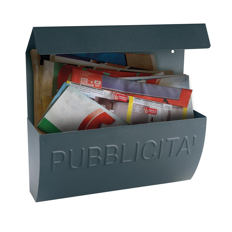 Cassetta porta pubblicità ALUBOX Reclame L 310 x P 100 x H 310 mm colore arancio / ramato - 3
