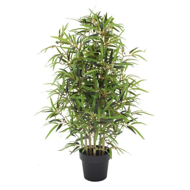 Pianta artificiale Bamboo in vaso H 100 cm - 1
