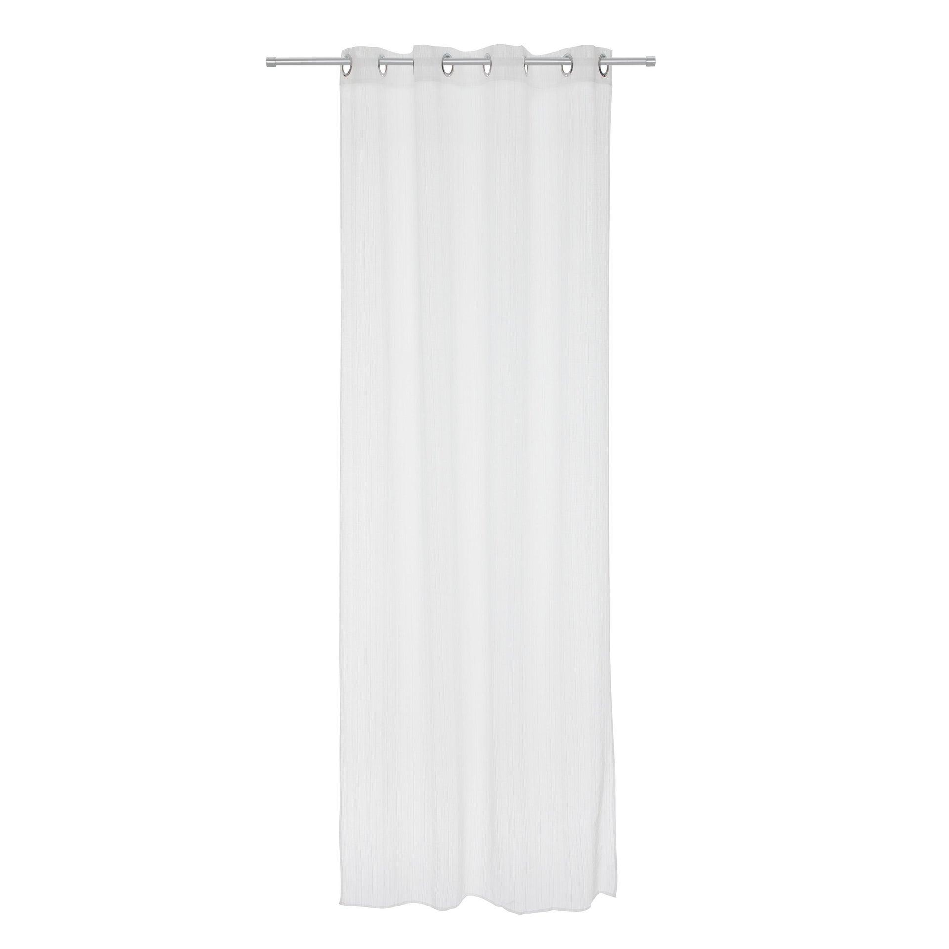 Tenda INSPIRE Lolita bianco occhielli 140 x 280 cm - 4