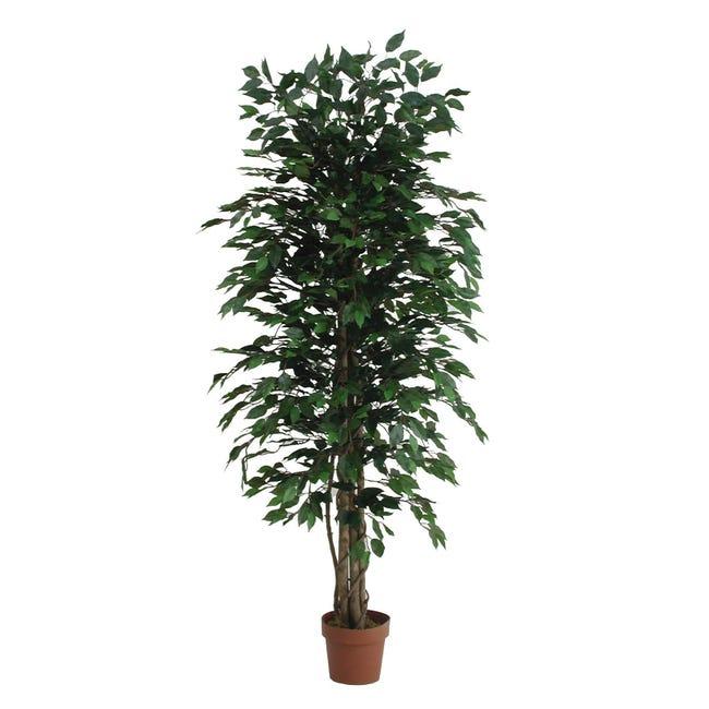 Pianta artificiale Ficus in vaso H 175 cm - 1