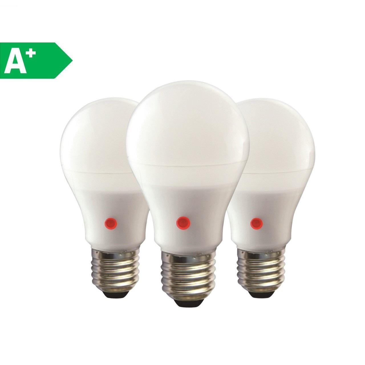 Set di 3 lampadine LED, E27, Goccia, Opaco, Luce naturale, 12W=1040LM (equiv 75 W), 270° - 1
