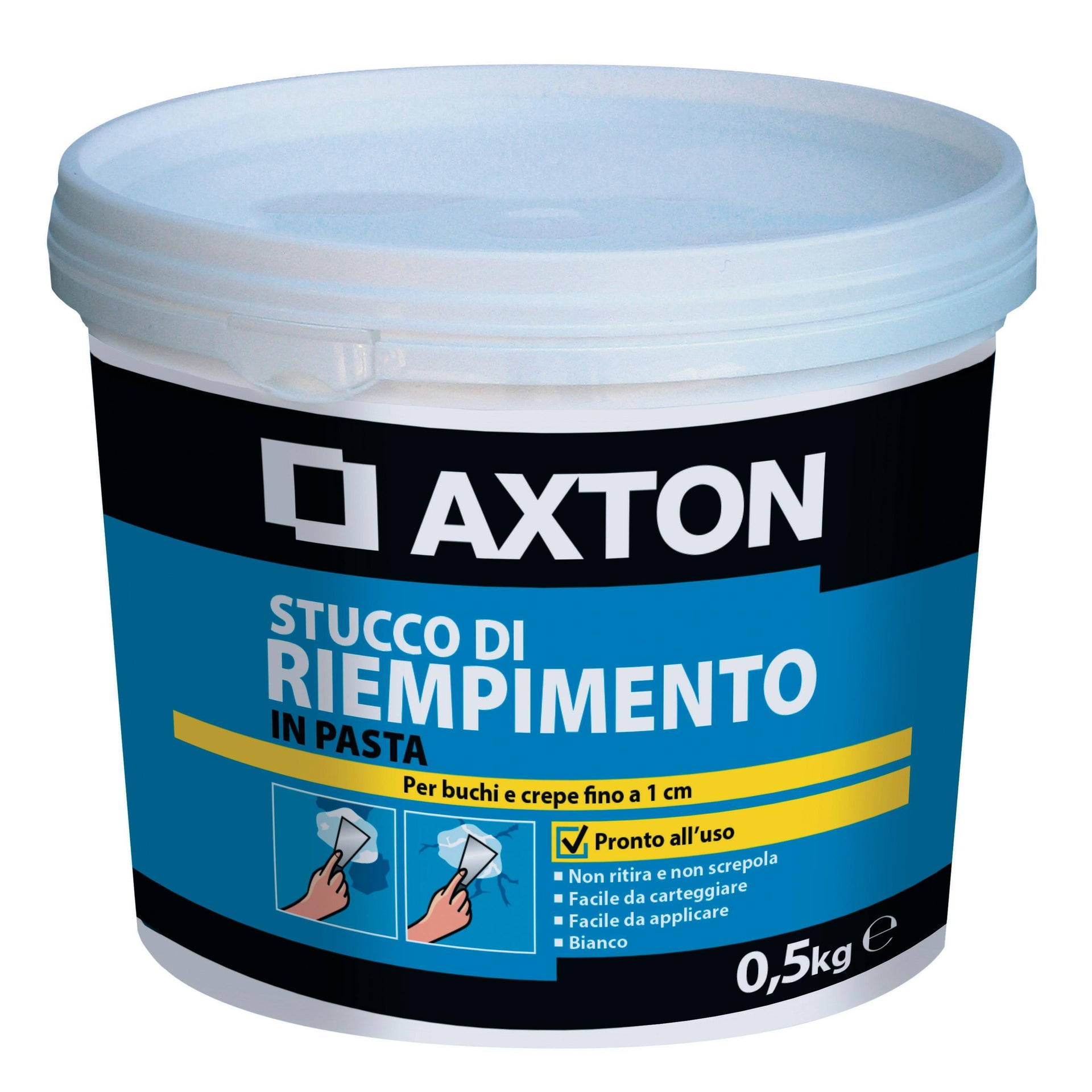 Stucco in pasta AXTON Riempitivo 500 g bianco - 1
