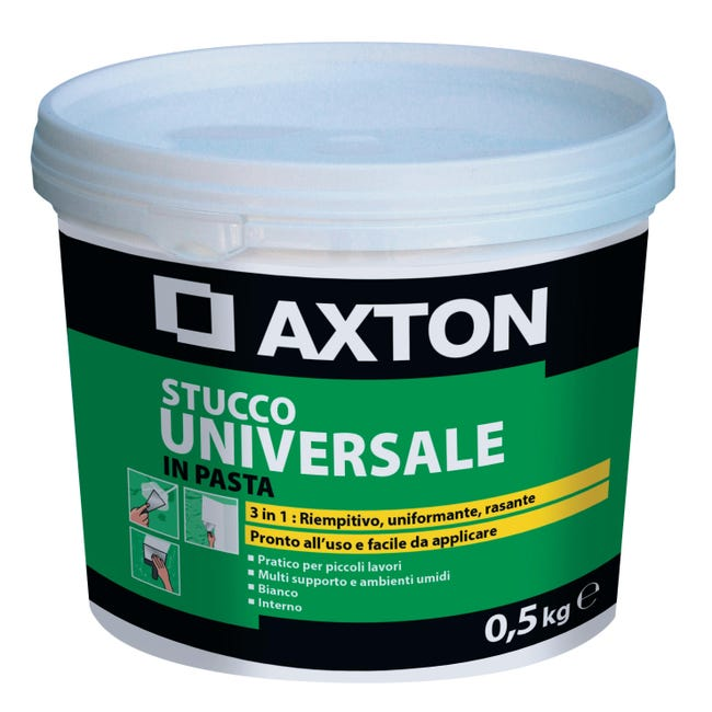 Stucco in pasta AXTON Universale 500 g bianco - 1