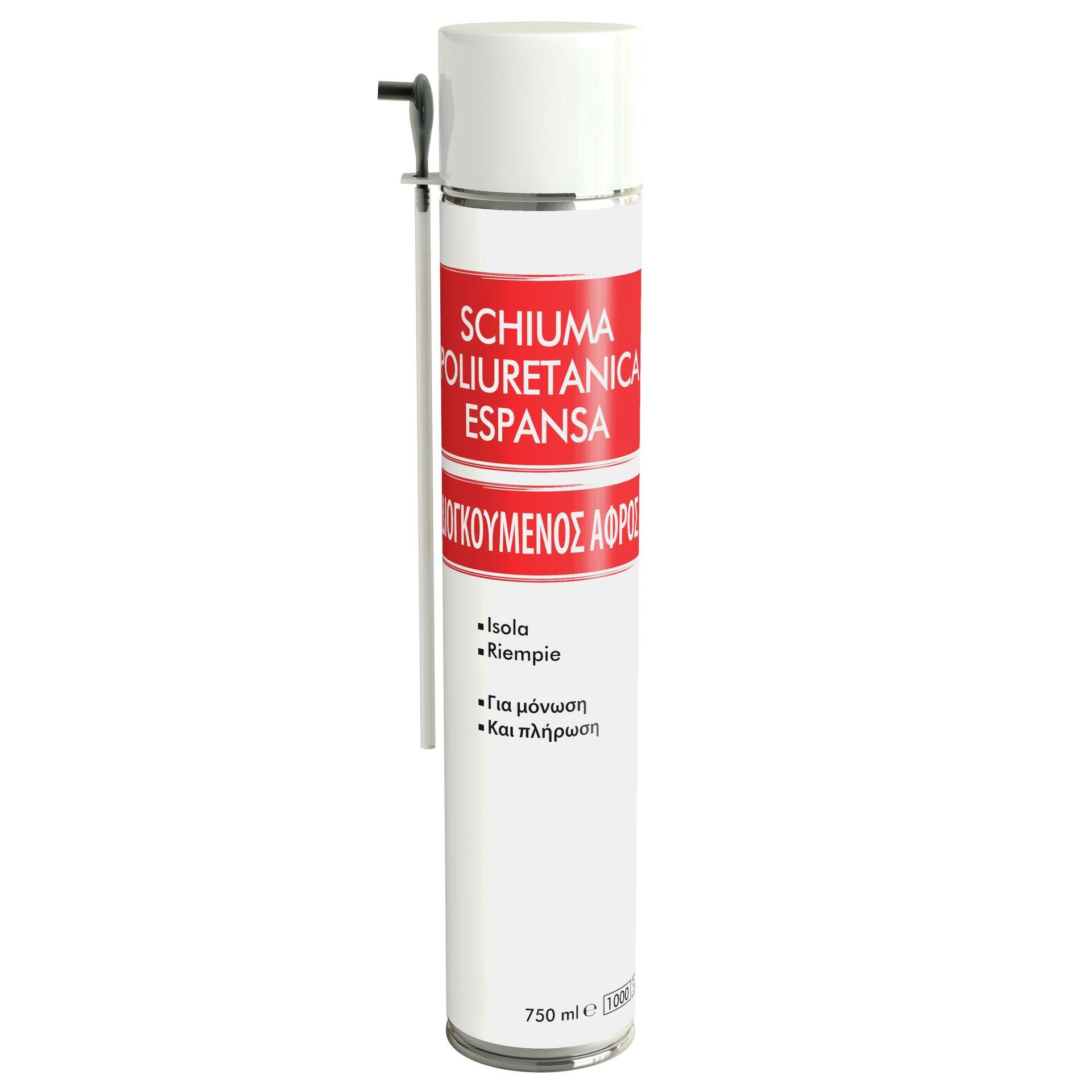Schiuma espansa poliuretanica bianco per porta 0,75 ml - 2