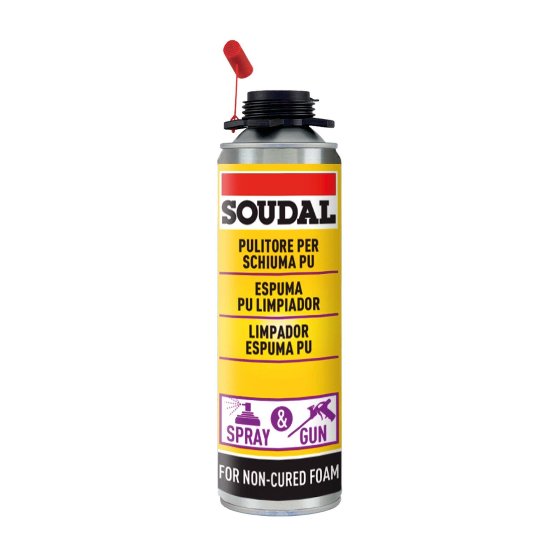 Detergente per schiuma e pistola SOUDAL Pulitore trasparente 150ml - 3