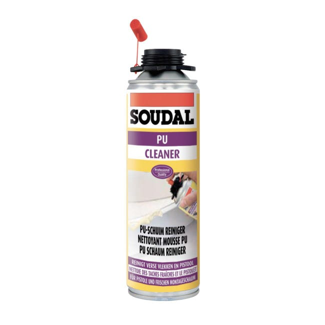 Detergente per schiuma e pistola SOUDAL Pulitore trasparente 150ml - 1