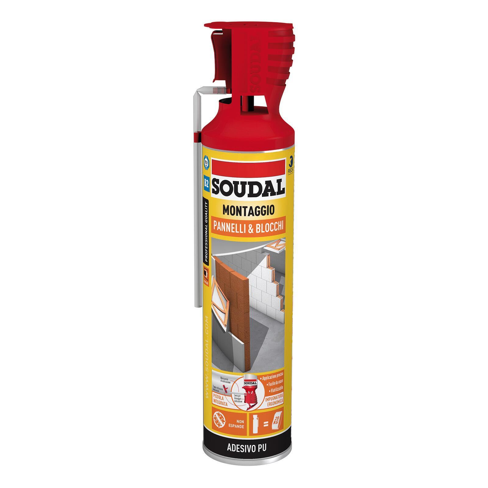 Schiuma poliuretanica SOUDAL Pannelli e blocchi rame per pannello 0,6 ml - 2