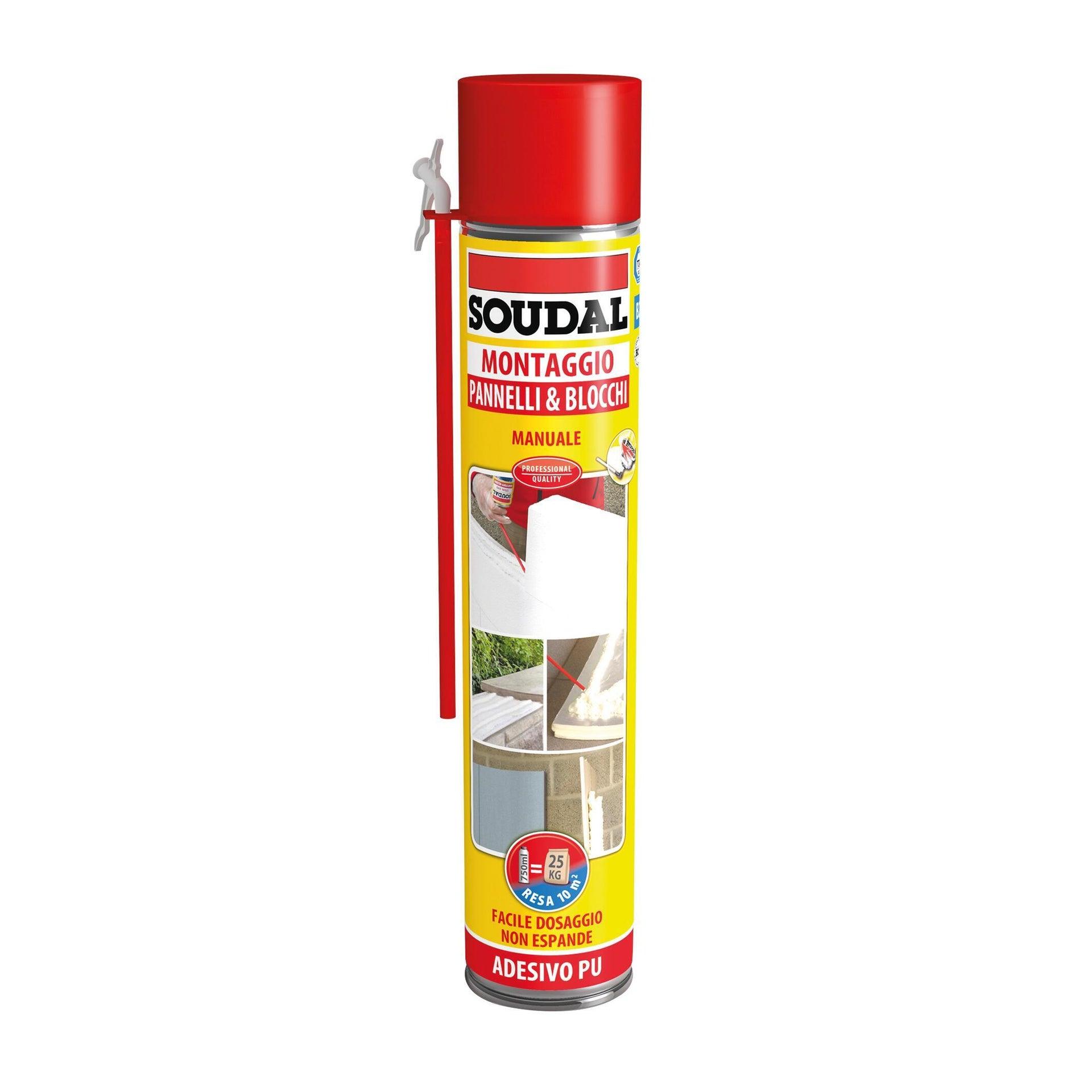 Schiuma poliuretanica SOUDAL Pannelli e blocchi rame per pannello 0,6 ml - 4