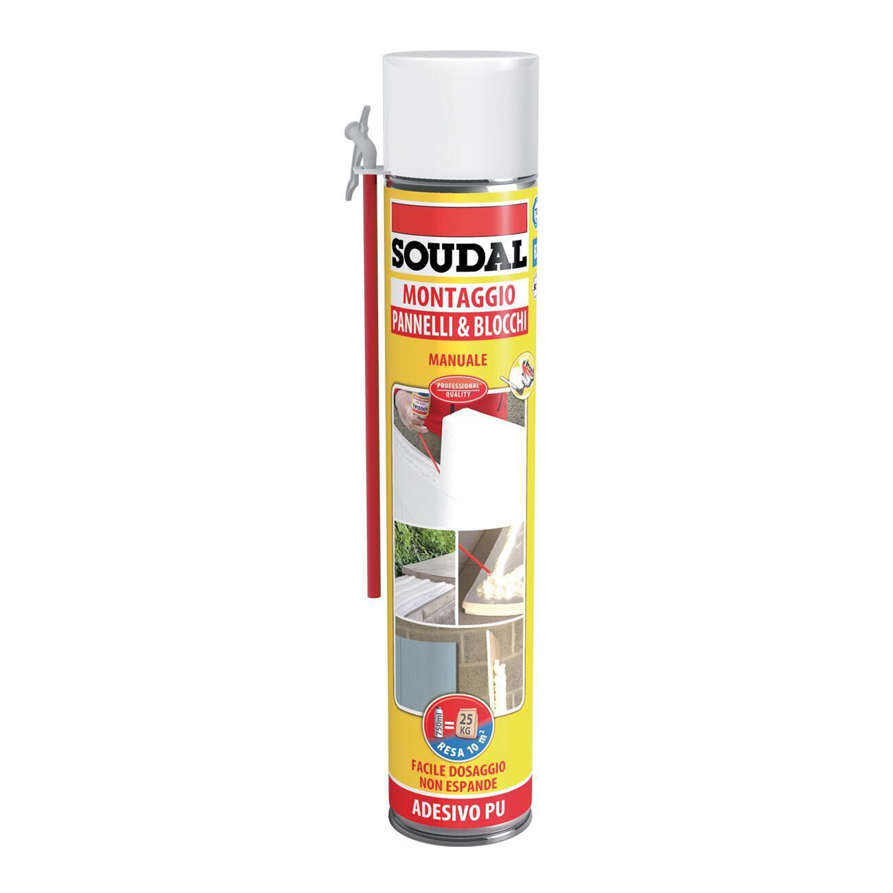 Schiuma poliuretanica SOUDAL Pannelli e blocchi rame per pannello 0,6 ml - 1