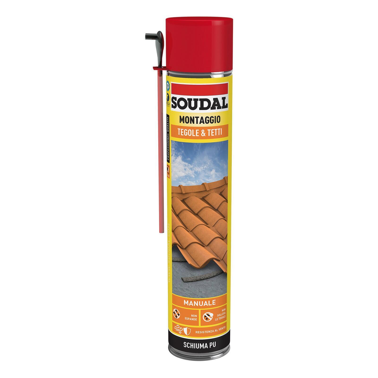 Schiuma poliuretanica SOUDAL Tetti e tegole grigio per tegola 0,75 ml - 3