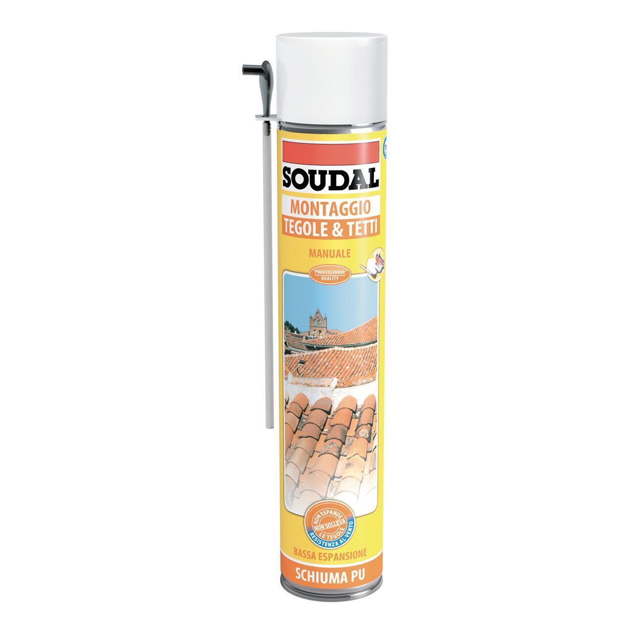 Schiuma poliuretanica SOUDAL Tetti e tegole grigio per tegola 0,75 ml - 1